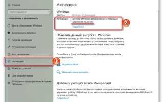 Легальная активация Windows 10