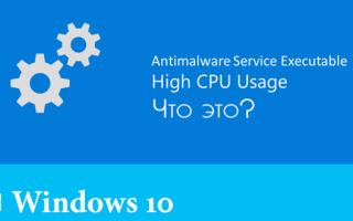 Чрезмерно активный процесс Antimalware Service Executable: как отключить в Win 10