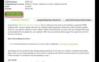 Обновление драйвера видеокарты в системе Windows 10