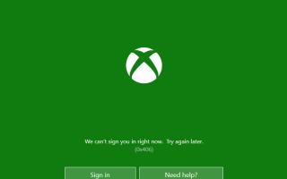 Выполнить вход сейчас невозможно xbox windows 10