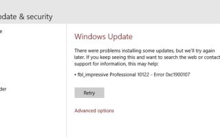 Ошибка 0xc1900107 в Центре обновления Windows 10: методы решения
