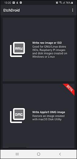 Загрузочная флешка на Android в EtchDroid