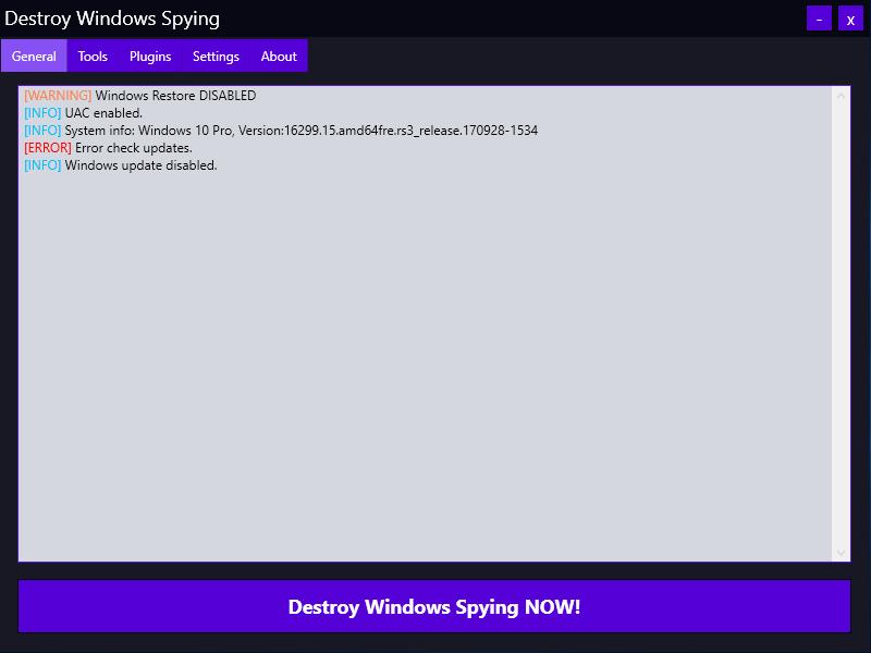 Destroy Windows 10 Spying 1.0.1.0