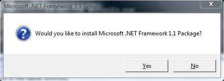Install Microsoft .NET Framework 1.1 on Windows 7 and Windows Vista
