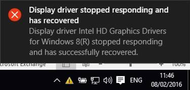 graphic drivers stopped responding crashed error