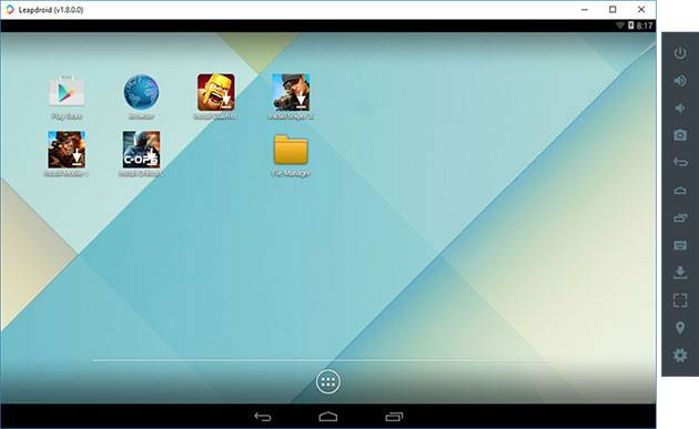 Экран андроид эмулятора Leapdroid